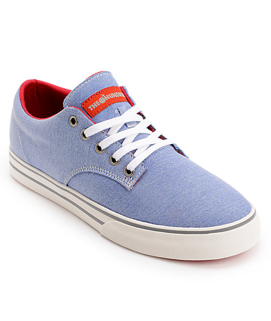 The Hundreds Johnson Blue Chambray Canvas Shoes