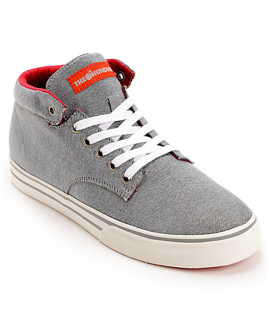 The Hundreds Johnson Chambray Mid Top Shoes