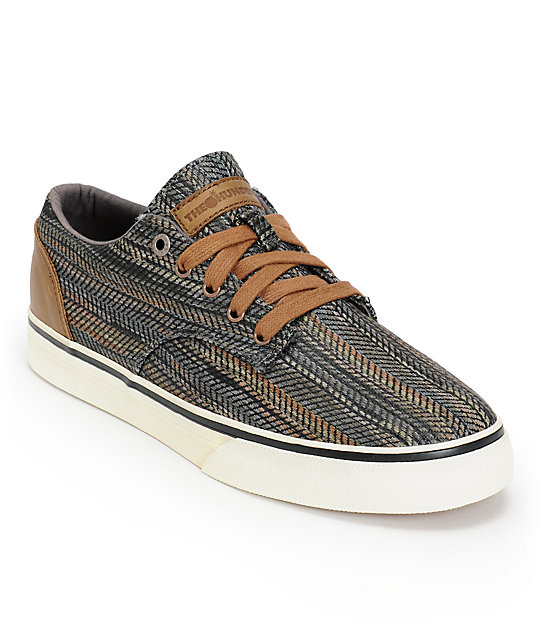 The Hundreds Johnson Low Grey Tribal Woven Skate Shoes