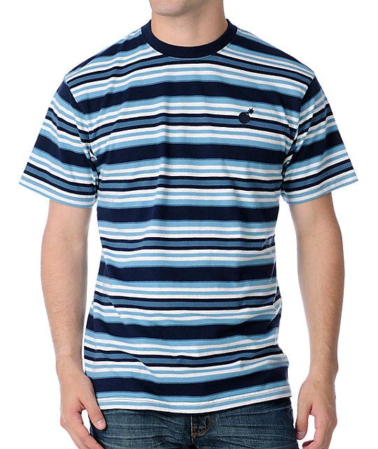 The Hundreds Kopps Striped Blue T-Shirt