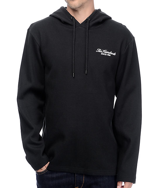 The Hundreds Leon Black Long Sleeve Hooded T-Shirt