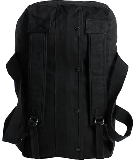 The Hundreds Load Black Canvas Duffel Bag