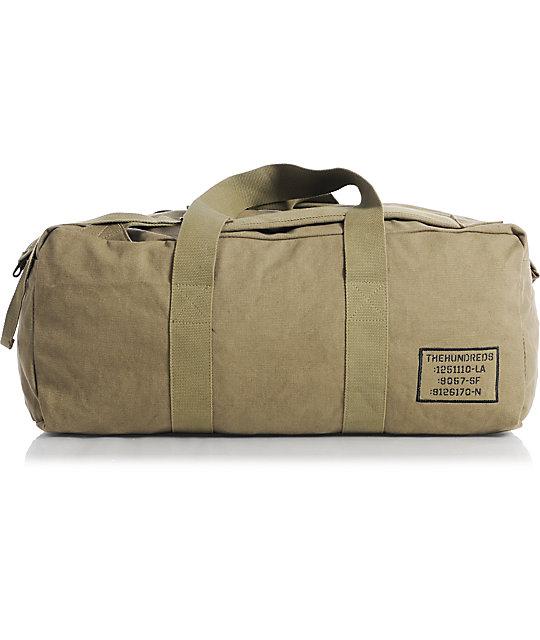 The Hundreds Load Olive Canvas Duffel Bag
