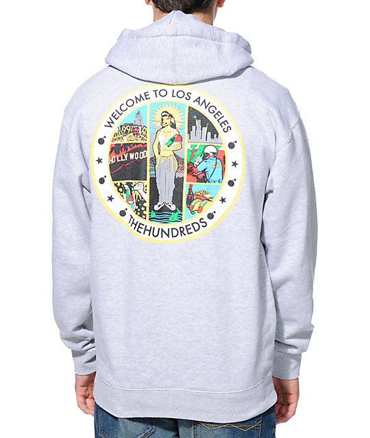 The Hundreds Los Angeles Seal Grey Pullover Hoodie