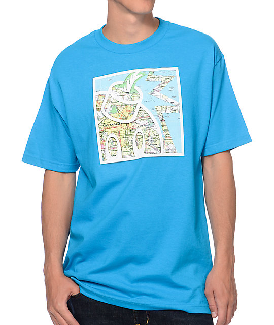 The Hundreds Map Adam Turquoise T-Shirt