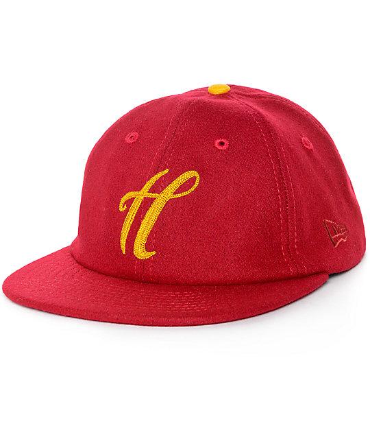 The Hundreds Meaning Burgundy New Era Strapback Hat