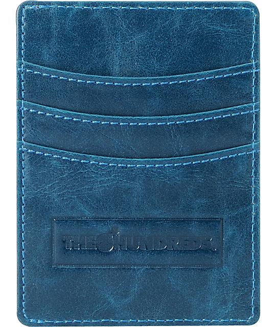 The Hundreds Monty Card Holder Blue Wallet