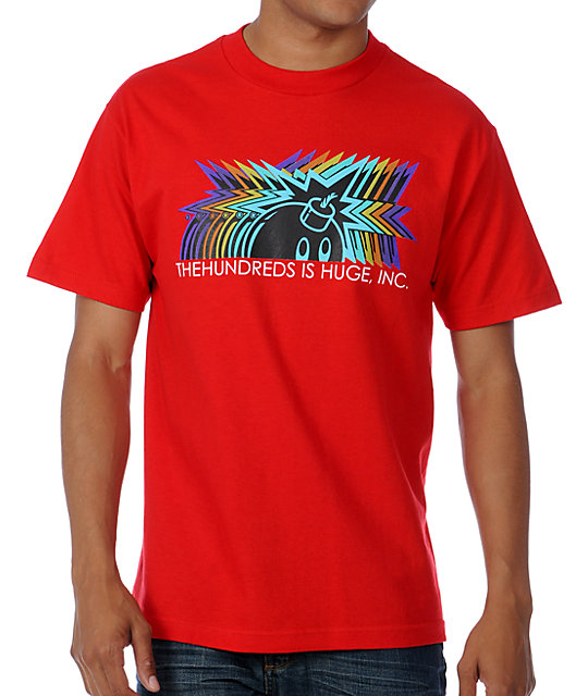The Hundreds Motion Red T-Shirt
