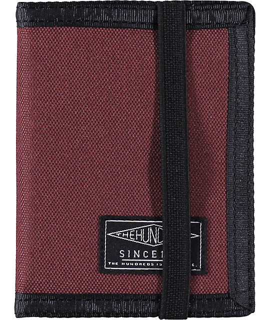 The Hundreds Murky Maroon Bifold Wallet
