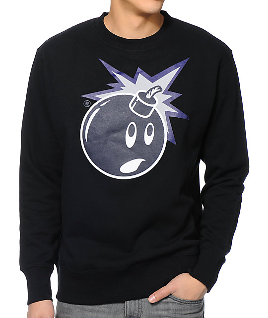The Hundreds Muted Adam Black Crew Neck Sweatshirt