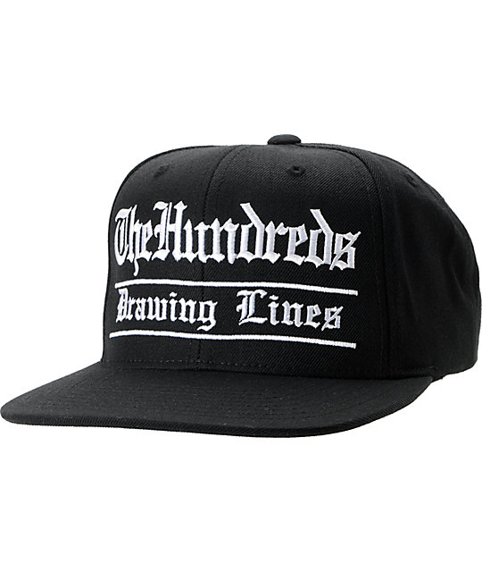 The Hundreds Nate Black Snapback Hat