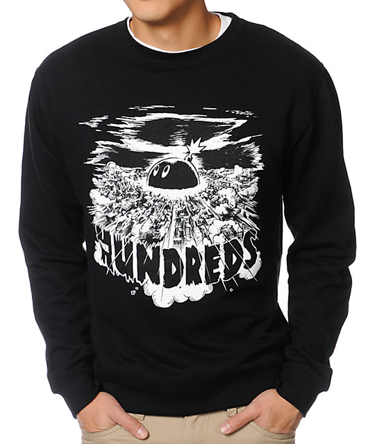 The Hundreds Neo Black Crew Neck Sweatshirt