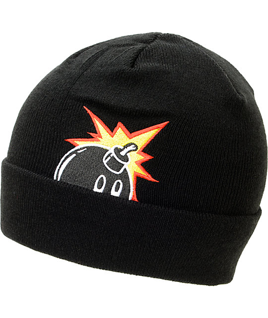 The Hundreds Peek-A Black Cuff Beanie