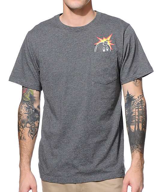 The Hundreds Peeka Tree Grey Pocket T-Shirt