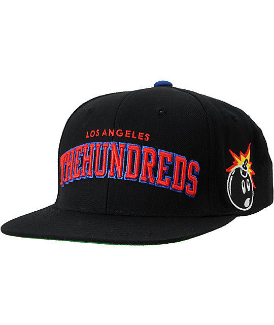 The Hundreds Player Black Snapback Hat