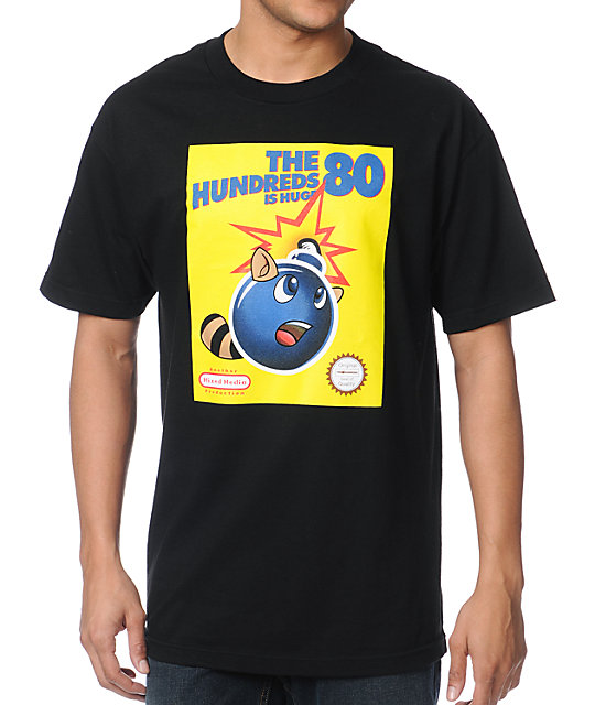The Hundreds Raccoon Tail Black T-Shirt