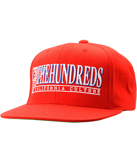The Hundreds Raiduurs Red Snapback Hat