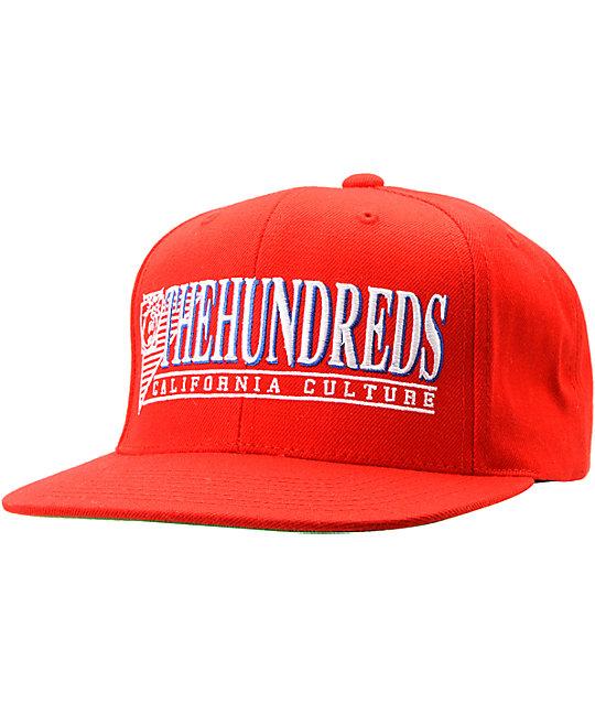 The Hundreds Raiduurs Red Snapback Hat