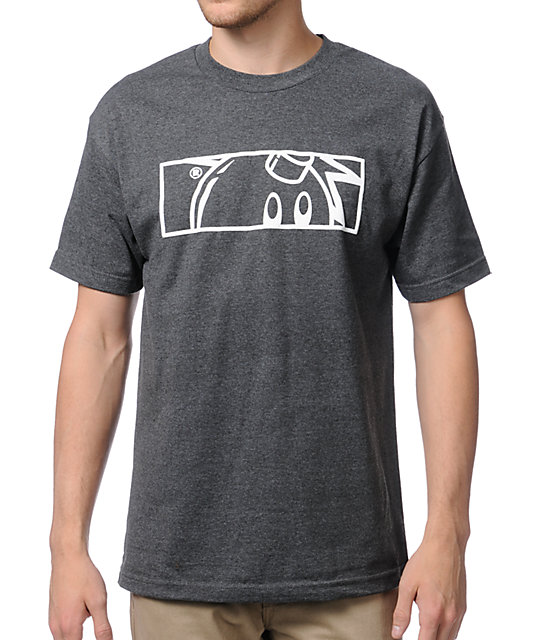 The Hundreds Rectangle Puff Adam Charcoal T-Shirt