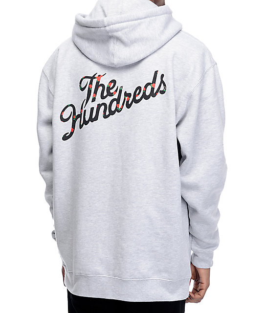 The Hundreds Rose Fill Slant Grey Pullover Hoodie | Zumiez