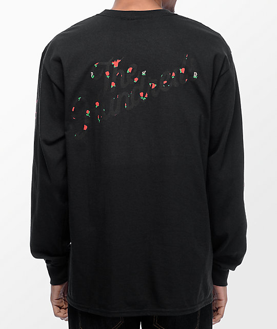 The Hundreds Rose Fill Slant Long Sleeve Black T-Shirt