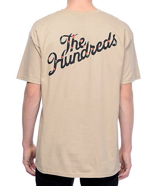 The Hundreds Rose Fill Slant Sand T-Shirt