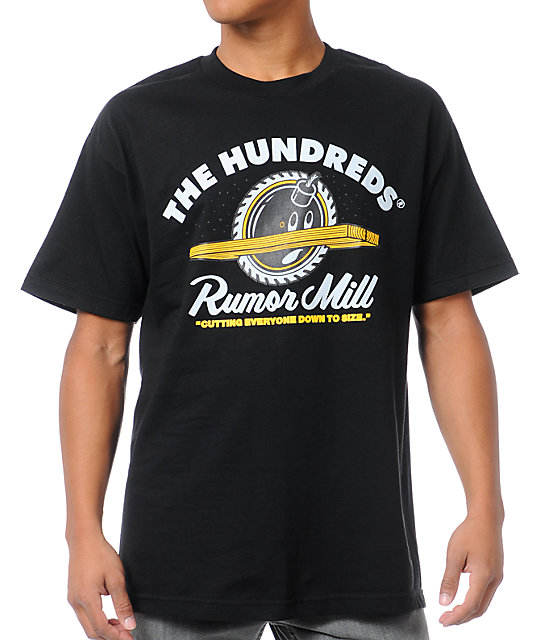 The Hundreds Rumormill Black T-Shirt