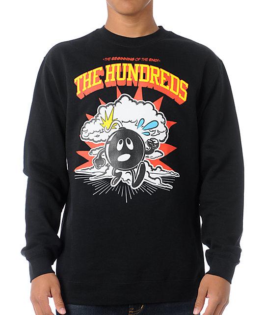 The Hundreds Run Adam Black Crew Neck Sweatshirt