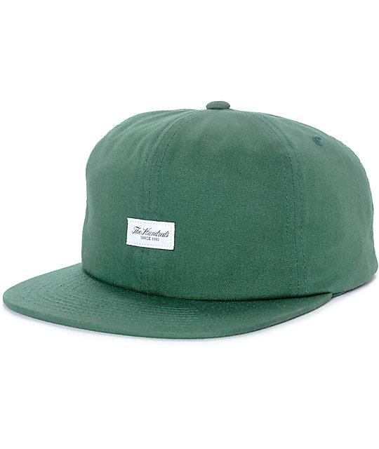 The Hundreds Script Bistro Green Snapback Hat