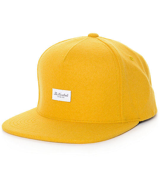 The Hundreds Script Yellow Strapback Hat