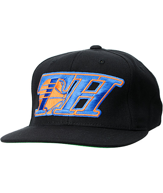 The Hundreds Show NY Black, Blue & Orange Snapback Hat
