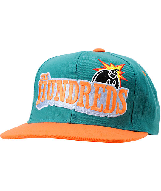 The Hundreds Shutout Turquoise & Orange Snapback Hat