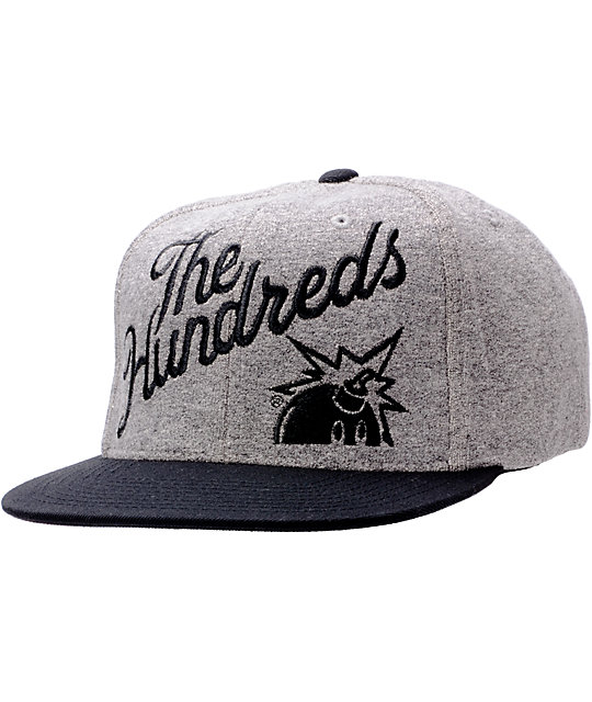 The Hundreds Slant Black & Grey Snapback