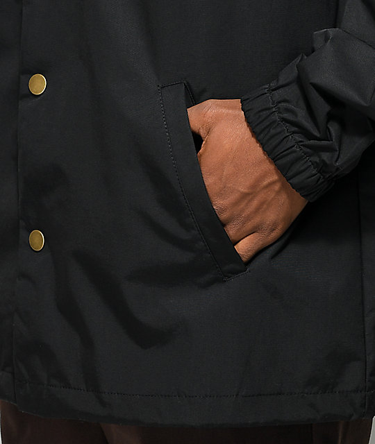 The Hundreds Slant Black & Turquoise Coaches Jacket