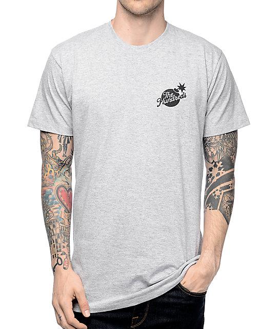 The Hundreds Slant Bomb Crest Grey T-Shirt