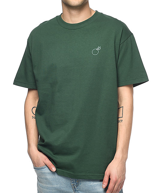 The Hundreds Slant Box Green T-Shirt