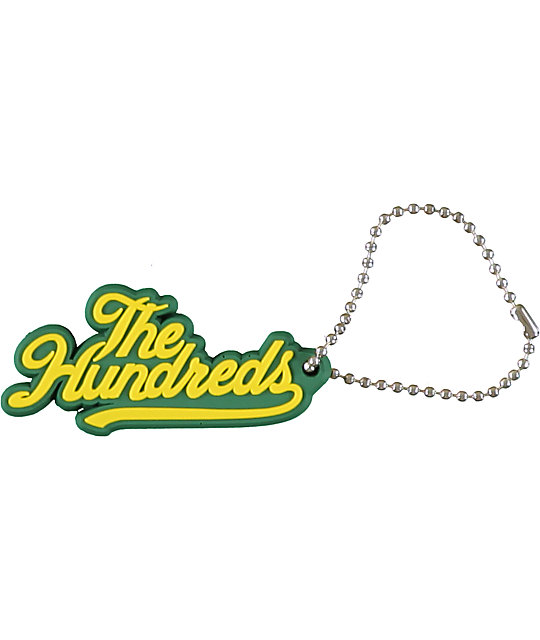 The Hundreds Slant Green Key Chain