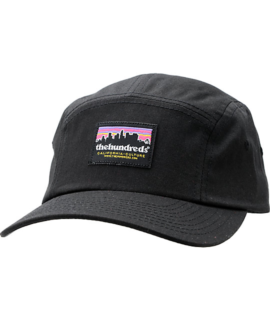 The Hundreds Slunder Black 5 Panel Hat