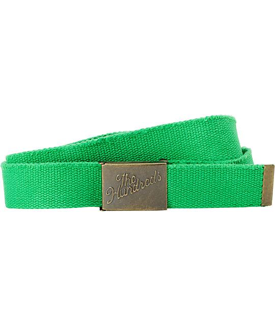 The Hundreds Sneak Scout Green Web Belt