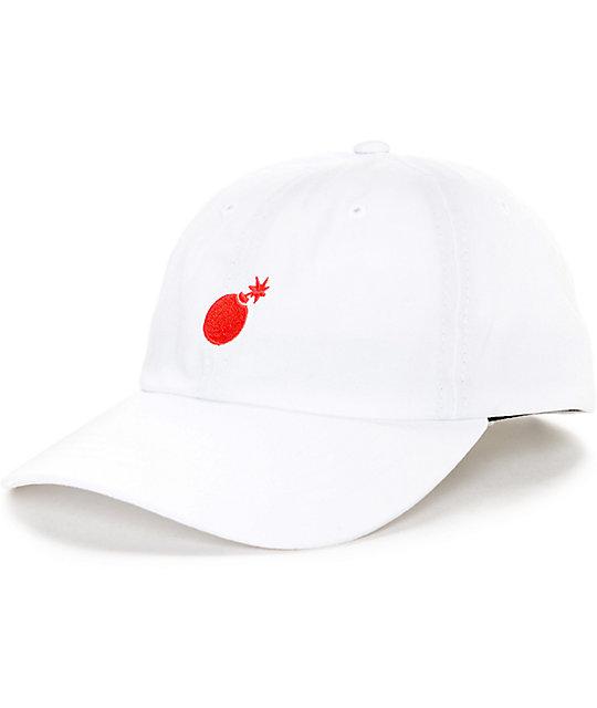 The Hundreds Solid Bomb White Strapback Hat