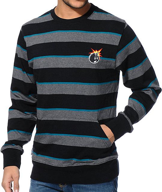 the hundreds spice black stripe long sleeve shirt