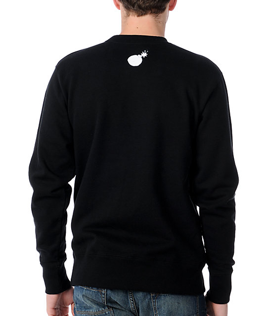The Hundreds Splatter Adam Black Sweatshirt