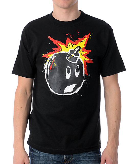 The Hundreds Splatter Adam Black T-Shirt