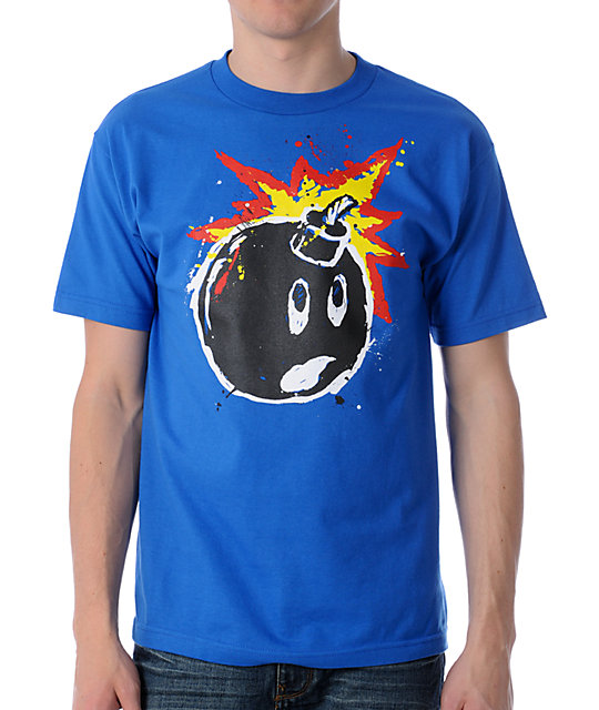 The Hundreds Splatter Adam Blue T-Shirt