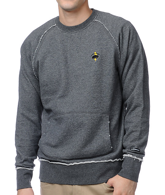 The Hundreds Spoke Charcoal Crew Neck Sweatshirt