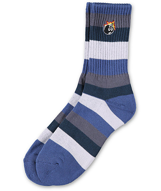 The Hundreds Steal Blue Stripe Crew Socks
