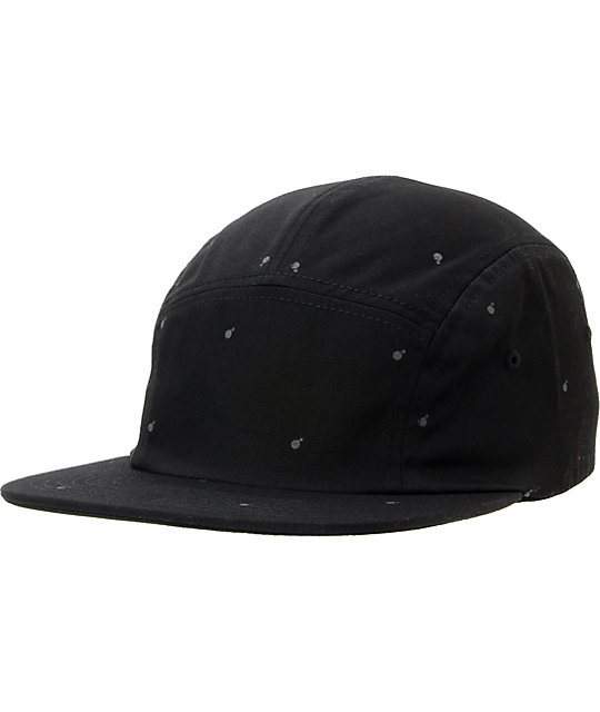 The Hundreds Sting Black 5 Panel Hat