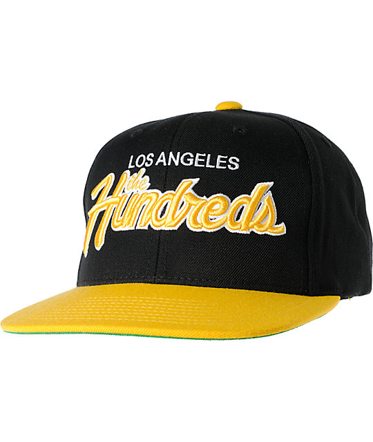 The Hundreds Team Black & Yellow Snapback Hat