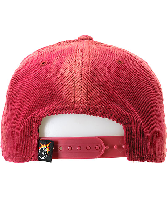 The Hundreds Team Maroon Corduroy Snapback Hat