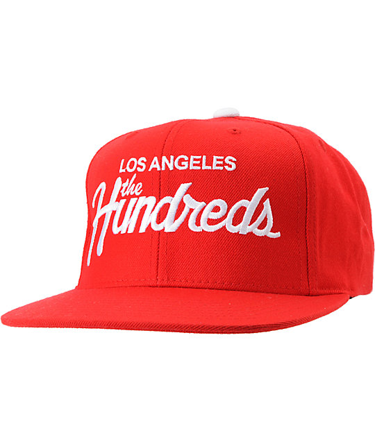 The Hundreds Team Red Snapback Hat